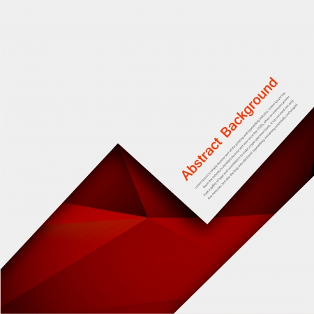 Vector abstract background. Polygon red and black Vector