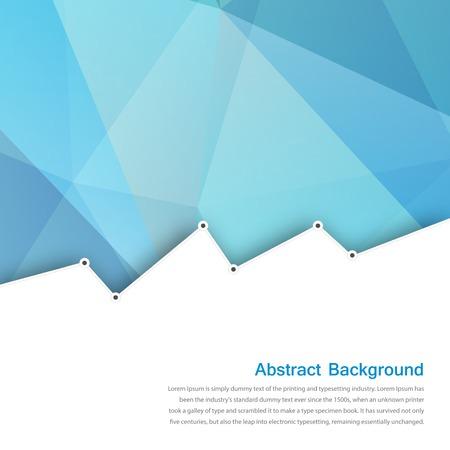 ベクトルの抽象的な背景。多角形の青と幾何学的なカード