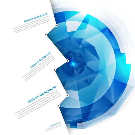 벡터 추상적 인 배경입니다. 다각형 파란색과 카드 기하학적