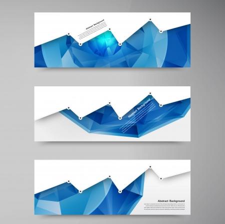 抽象的な背景のベクトル多角形ブルーと幾何学的なカード