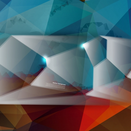 Vector abstract background. Polygon blue and card geometric Vector