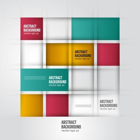 ベクトルの抽象的な背景。正方形の色と幾何学的
