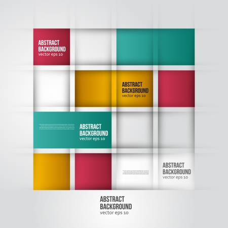 Vector abstract background. Square color and geometric Illustration