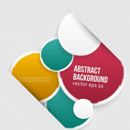 Vector color circles. Abstract background for design Vector