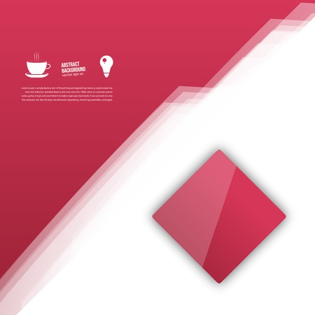 Vector red squares. Abstract background for design Vector