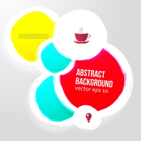 Vector color circles. Hipster Abstract background for design Vector