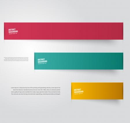ベクトルの抽象的な背景。ラベルの色と線