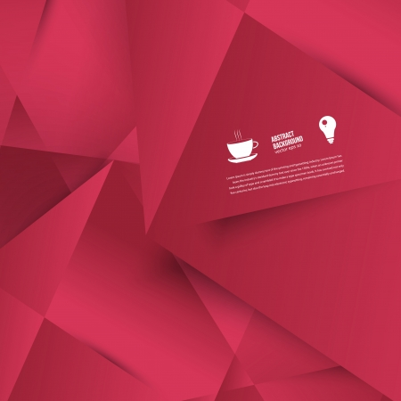 Vector abstract background. Lines shadow and red