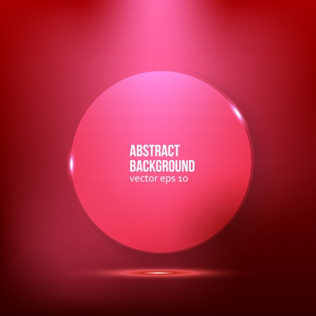 Vector abstract background. Circle red and light