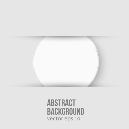 Vector white circle. Abstract background for design Vector
