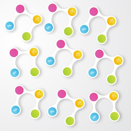 Vector color circles.  infographic Color and molecule Illustration
