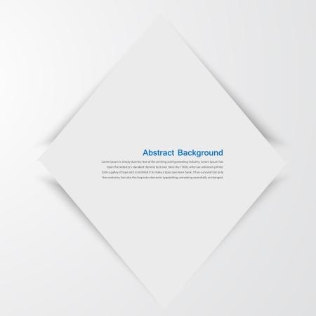 ベクトルの白い正方形。抽象とグレーの背景