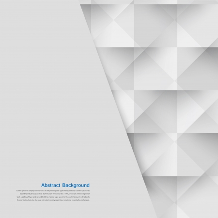 Vector white triangle. Abstract  and grey backround
