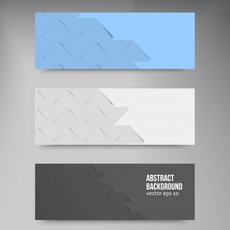 Vector banners and squares. Color and set Vector