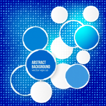 abstract background. Circle blue and light Stock Vector - 25070579