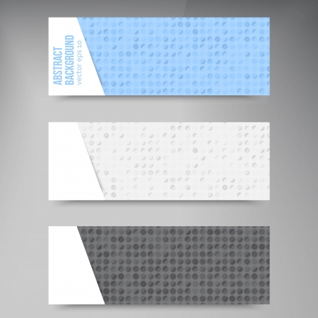 Abstract banners. Circles white and blue set Vector