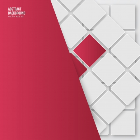 Abstract background. Squares white and shadow Vector