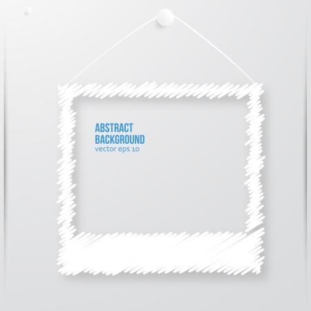 Vector photo frame banner. Vector illustration zig zag. Vector