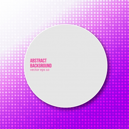 Vector drawn circle. Abstract background pattern and white Illustration