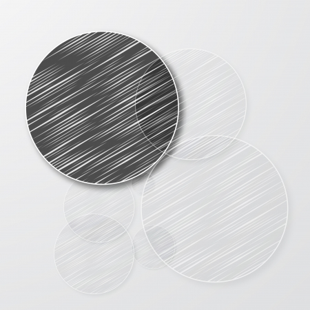 Vector drawn circle. Abstract background pattern and scribble Vector