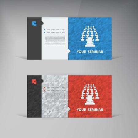Vector flat UI design trend set  business card. Stock Vector - 25627883