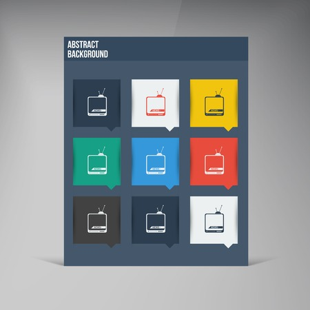 Vector flat UI design trend set icons. Vector