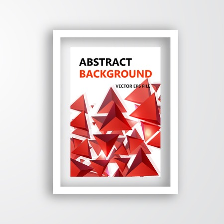 Vector triangle. Abstract background card and shadow Vector