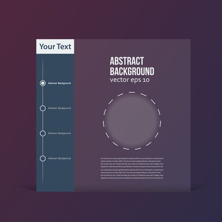 Vector flat design. background and color brochure Vector