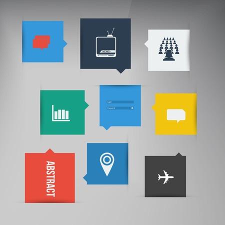 ui design: Vector flat UI design trend set icons.