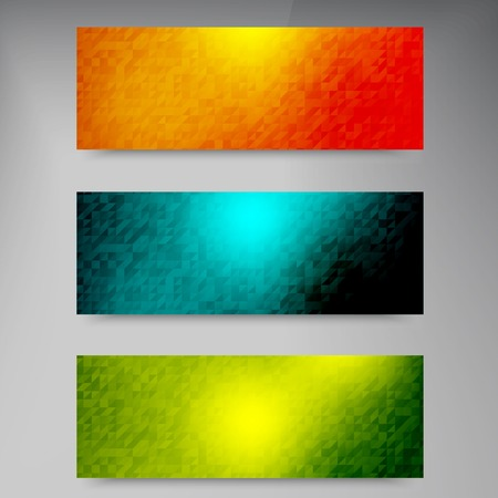 web banner: Vector banners and squares. Color set Illustration