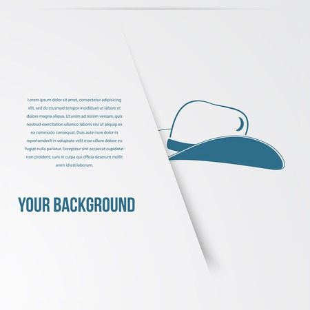 abstact: Abstact hat template. Corporate icon. Vector.