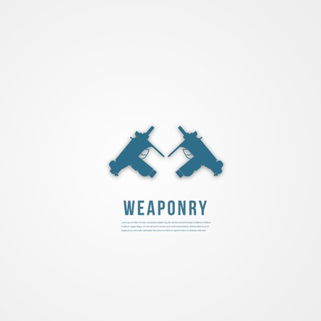 weaponry: Plantilla arma Abstact. Icono plano. Vector.