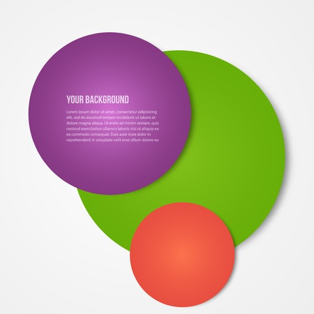 three object: Vector infographics circles template. template web design Illustration