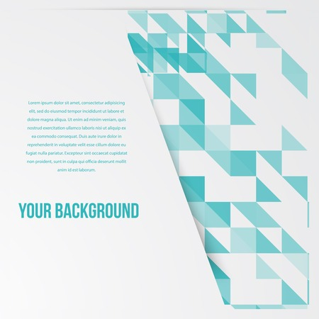 Vector banners and squares. Color set and mosaic Vector