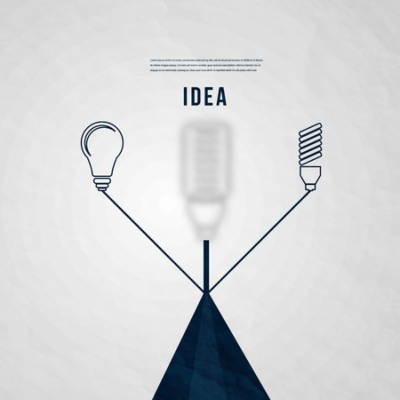 abstact: Abstact Bulb template. Electricity icon. Vector.