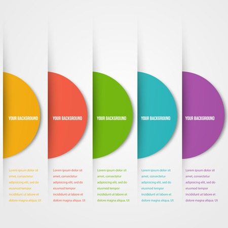 Abstact circles template. Color icon. Vector. Vector