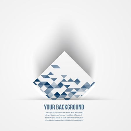 Vector  square. Abstract background 3d. Logo design Vector