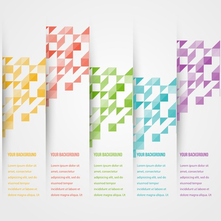 Abstact triangle template banner. Color set Vector. Vector