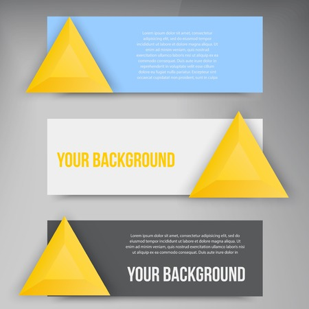 Vector abstract triangles template. Object web design Vector