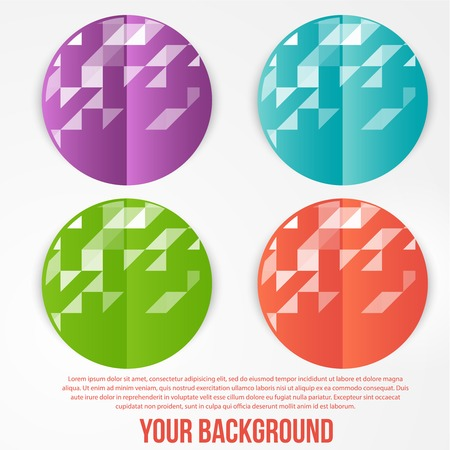 Vector abstract circles template. Object web design Vector