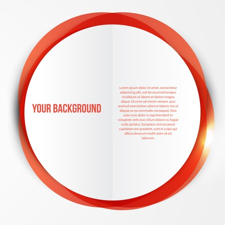 Vector abstract red circles template. Object web design Vector