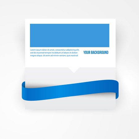 corner ribbon: Vector paper template banner. White note Vector.