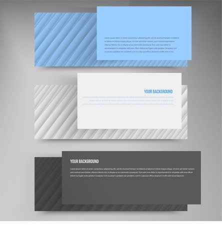 Vector banners and lines. Color web design set Vector