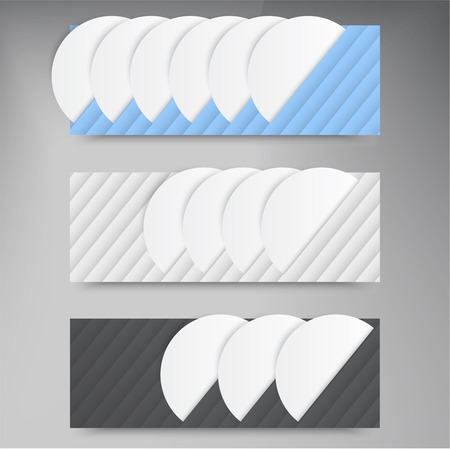 Vector banners and lines. Color web design set circles Vector