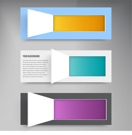 Vector background and squares. Set web design Vector