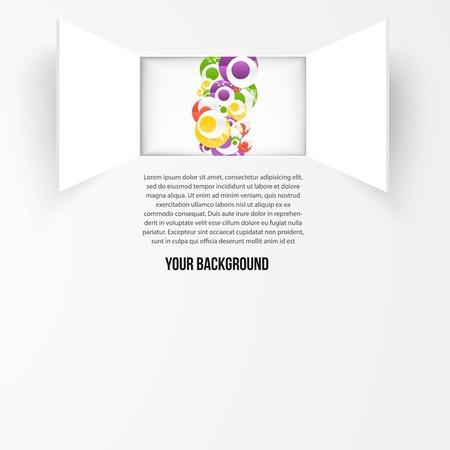 Vector achtergrond raam en cirkel. Textuur en design Vector Illustratie