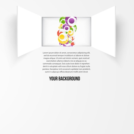 Vector background window and circle. Texture and design Vector