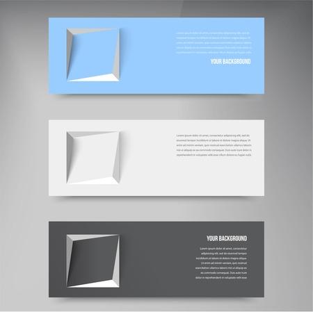 blu: Vector banners and squares. Design Color set Illustration