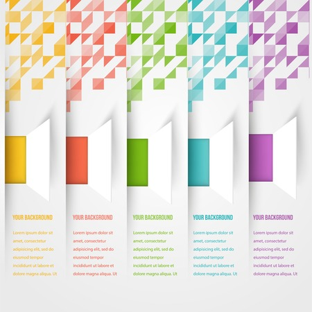 Abstract triangle template banner.  Vector