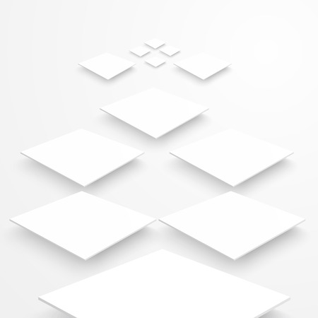 building blocks business: Vector 3d banners and squares. Design background